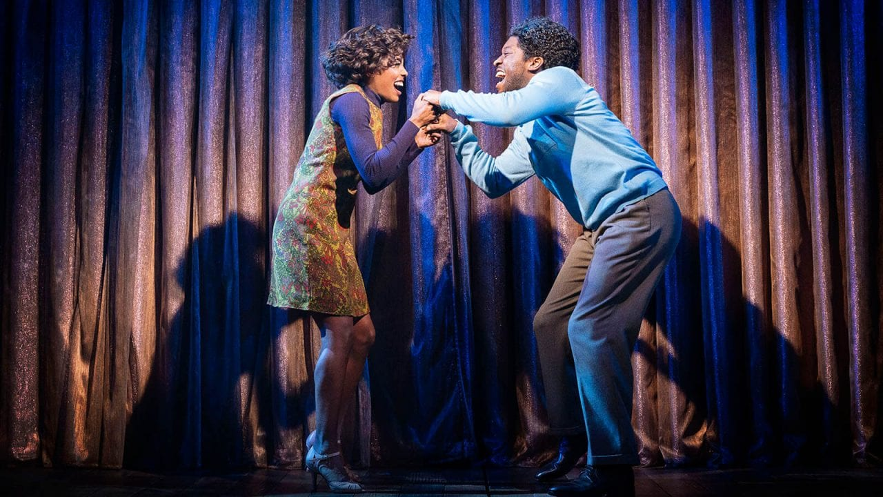 Adrienne Warren as Tina Turner and Natey Jones (Raymond Hill). Photo by Manuel Harlan
