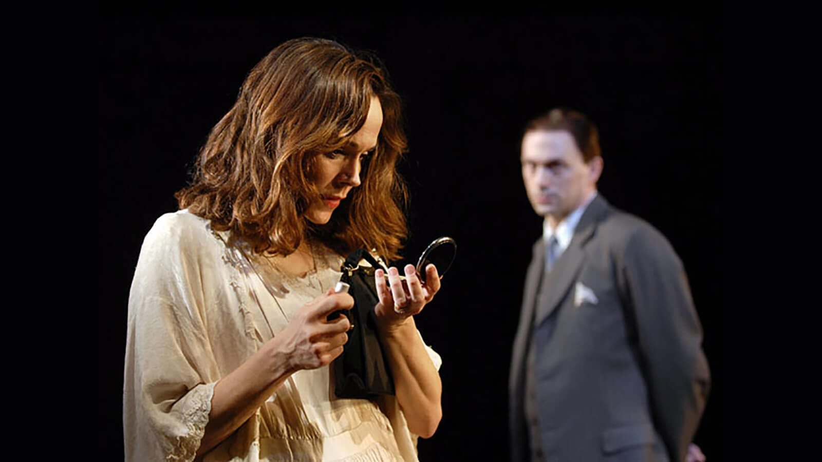 Frances O'Connor and Will Keen in Tom And Viv. Production photo by Hugu Glendinning