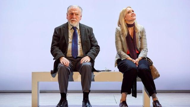 Kenneth Cranham and Anne-Marie Duff in Heisenberg: The Uncertainty Principle. Photo by Brinkhoff/Mögenburg