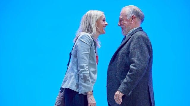 Anne-Marie Duff and Kenneth Cranham in Heisenberg: The Uncertainty Principle. Photo by Brinkhoff/Mögenburg