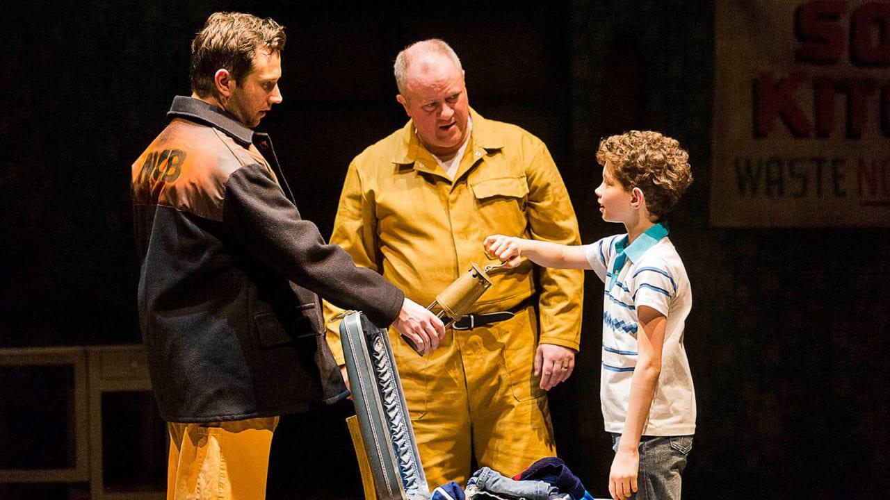 Adam Abbou Billy Elliot Martin Walsh Dad and Scott Garnham Tony Photo by Alastair Muir