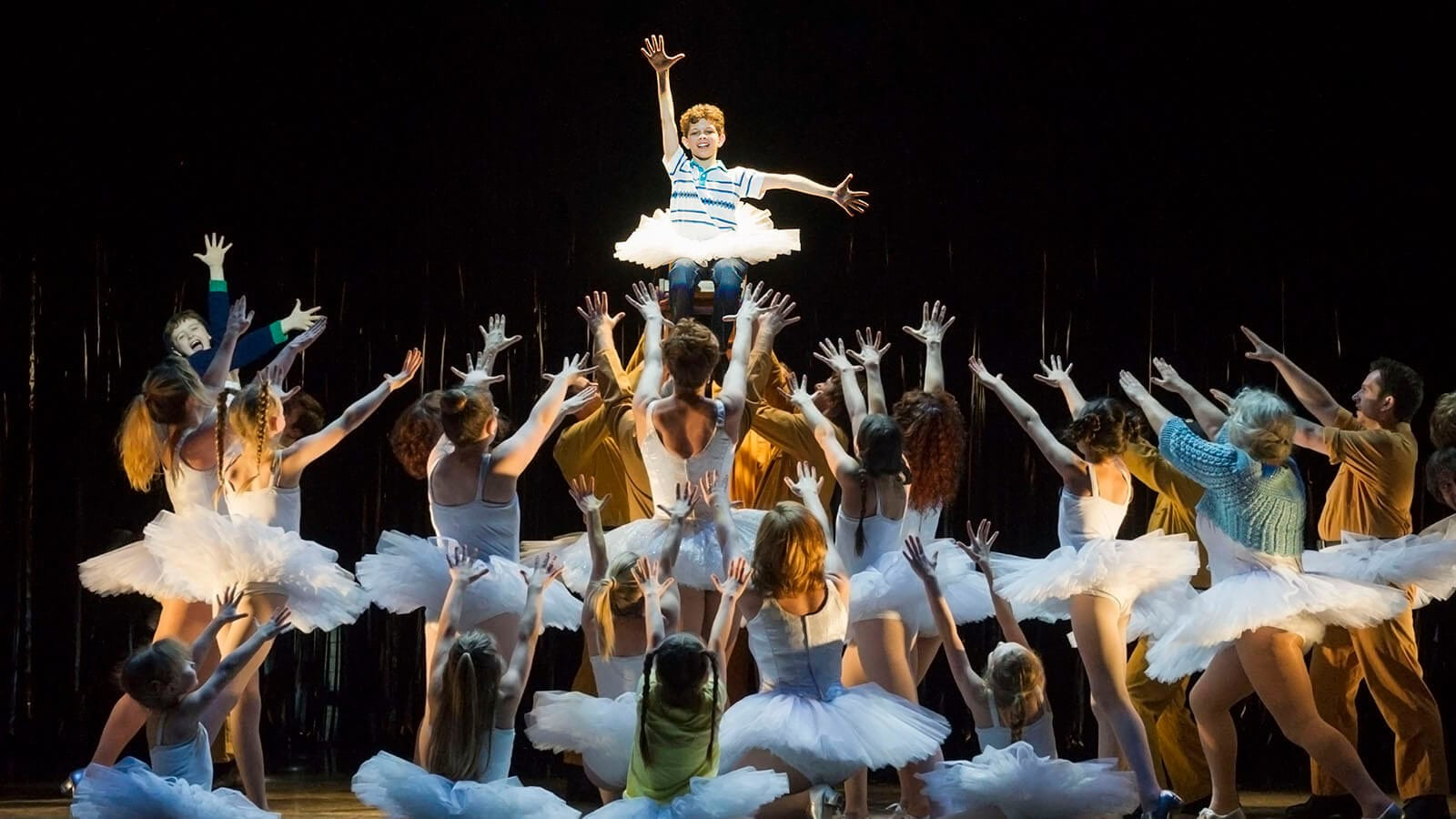 Adam Abbou Billy Elliot and Ensemble. Photo by Alastair Muir