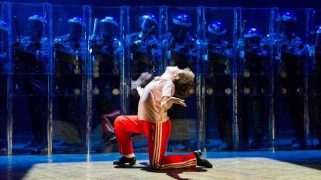BILLY ELLIOT Lewis Smallman Billy Elliot and Ensemble Photo by Alastair Muir