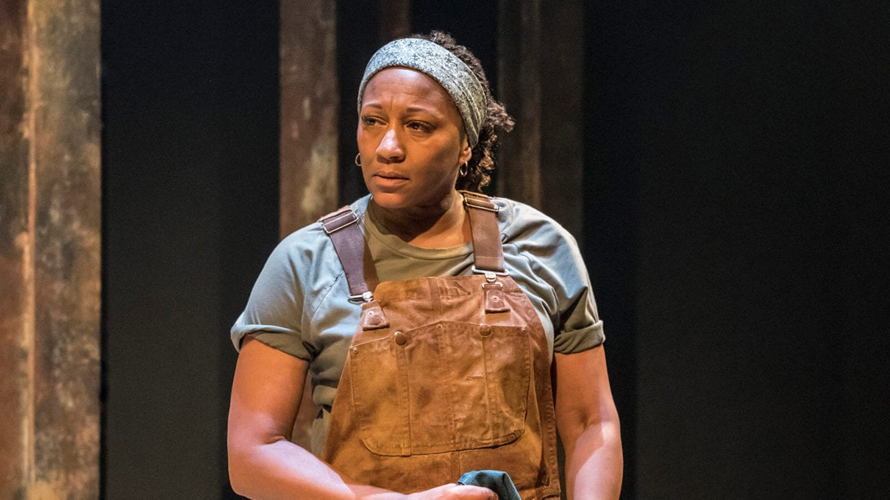 Clare Perkins in Sweat at the Donmar Warehouse. Photo Johan Persson