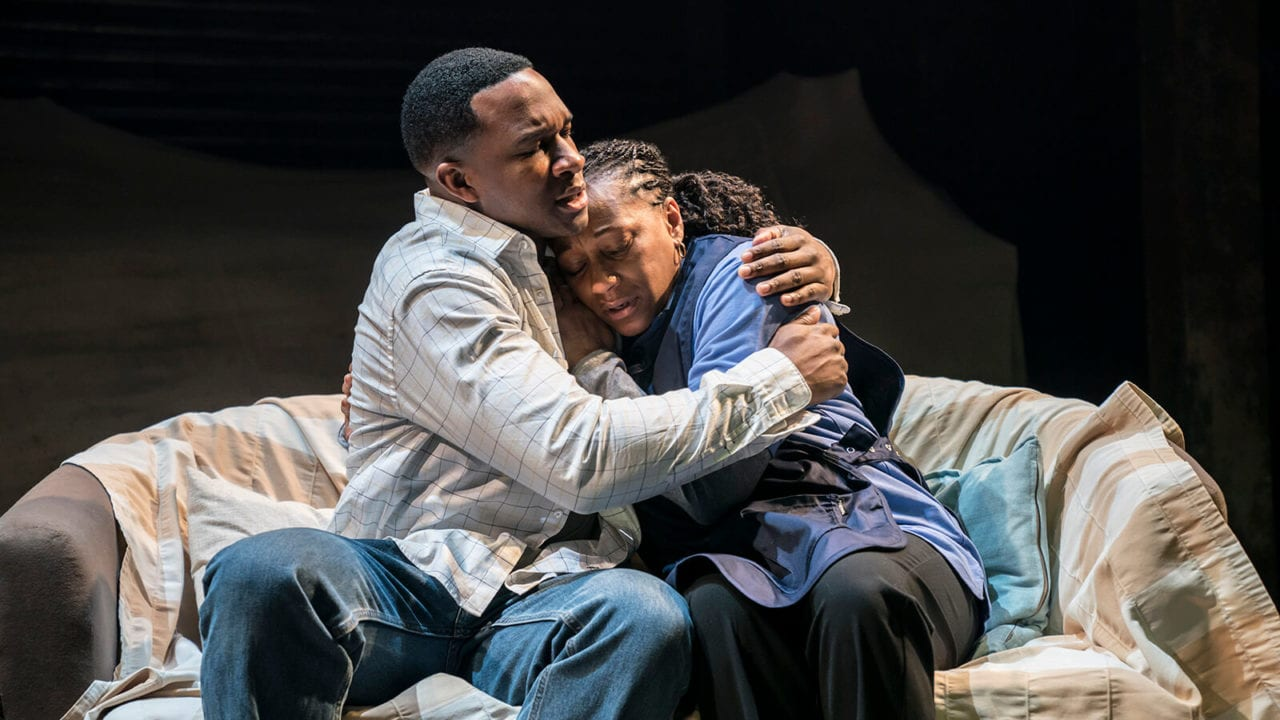 Osy Ikhile and Clare Perkins in Sweat at the Donmar Warehouse. Photo Johan Persson