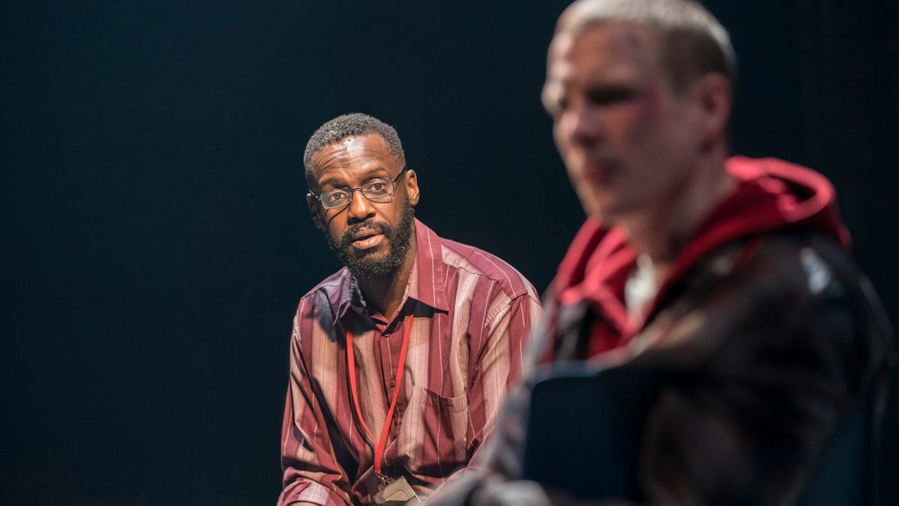 Sule Rimi and Patrick Gibson in Sweat at the Donmar Warehouse. Photo Johan Persson