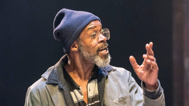 Wil Johnson in Sweat at the Donmar Warehouse. Photo Johan Persson